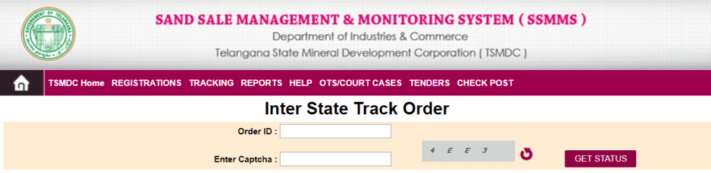 Process To Track Inter-State Order